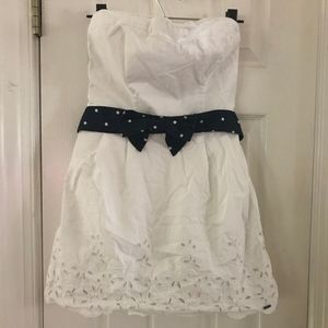 Hollister White Strapless Dress size L
